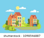 vector cartoon flat... | Shutterstock .eps vector #1098546887