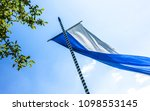 the bavarian flag in front of...   Shutterstock . vector #1098553145