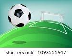 soccer ball or football... | Shutterstock .eps vector #1098555947