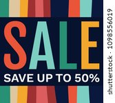 sale banner design template.... | Shutterstock .eps vector #1098556019