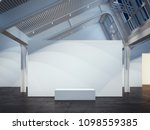 modern bright gallery with... | Shutterstock . vector #1098559385