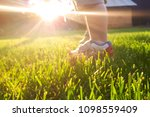 the legs of a three year old... | Shutterstock . vector #1098559409