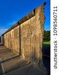 berlin wall memorial in germany ... | Shutterstock . vector #1098560711