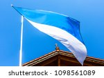 the bavarian flag in front of...   Shutterstock . vector #1098561089