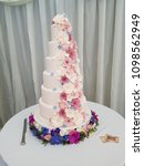 large tiered floral wedding cake | Shutterstock . vector #1098562949