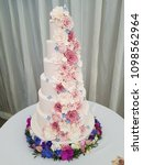 Large Tiered Floral Wedding Cake