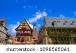rathaus quedlinburg facade in... | Shutterstock . vector #1098565061