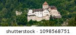 distance view at vaduz castle... | Shutterstock . vector #1098568751