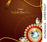 decorated rakhi for indian... | Shutterstock .eps vector #1098570227