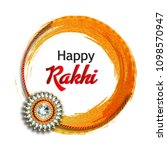 decorated rakhi for indian... | Shutterstock .eps vector #1098570947