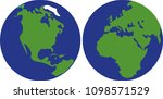 earth model in right and left...   Shutterstock .eps vector #1098571529
