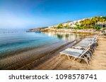 asarlik beach view in bodrum... | Shutterstock . vector #1098578741