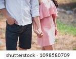 happy young asian couple... | Shutterstock . vector #1098580709
