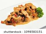 beef stroganoff under the... | Shutterstock . vector #1098583151