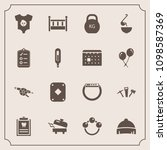 modern  simple vector icon set... | Shutterstock .eps vector #1098587369