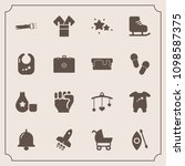 modern  simple vector icon set... | Shutterstock .eps vector #1098587375