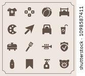 modern  simple vector icon set... | Shutterstock .eps vector #1098587411