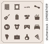 modern  simple vector icon set... | Shutterstock .eps vector #1098587459