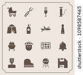 modern  simple vector icon set... | Shutterstock .eps vector #1098587465