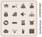 modern  simple vector icon set... | Shutterstock .eps vector #1098587489