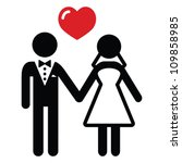 wedding married couple icon | Shutterstock .eps vector #109858985