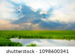the sky is a reflection of the... | Shutterstock . vector #1098600341