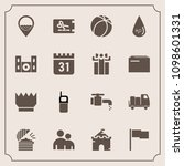 modern  simple vector icon set... | Shutterstock .eps vector #1098601331