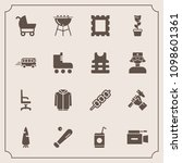modern  simple vector icon set... | Shutterstock .eps vector #1098601361