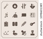 modern  simple vector icon set... | Shutterstock .eps vector #1098601385