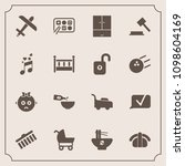modern  simple vector icon set... | Shutterstock .eps vector #1098604169