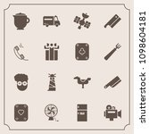 modern  simple vector icon set... | Shutterstock .eps vector #1098604181