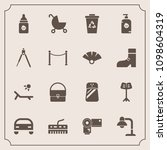 modern  simple vector icon set... | Shutterstock .eps vector #1098604319