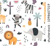 vector seamless pattern with...   Shutterstock .eps vector #1098607319