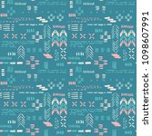 seamless pattern with ethnic... | Shutterstock .eps vector #1098607991