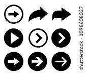 black arrows vector collection | Shutterstock .eps vector #1098608027
