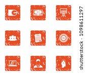data disk icons set. grunge set ...   Shutterstock .eps vector #1098611297