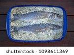 seabass salt recipe lubina a la ... | Shutterstock . vector #1098611369
