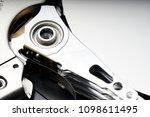 closeup image of actuator arm... | Shutterstock . vector #1098611495