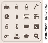 modern  simple vector icon set... | Shutterstock .eps vector #1098611561