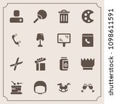 modern  simple vector icon set... | Shutterstock .eps vector #1098611591