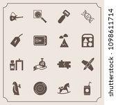 modern  simple vector icon set... | Shutterstock .eps vector #1098611714