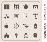 modern  simple vector icon set... | Shutterstock .eps vector #1098611771