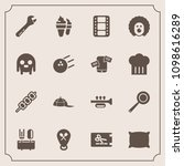 modern  simple vector icon set... | Shutterstock .eps vector #1098616289