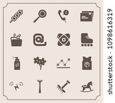 modern  simple vector icon set... | Shutterstock .eps vector #1098616319