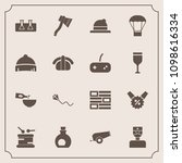 modern  simple vector icon set... | Shutterstock .eps vector #1098616334