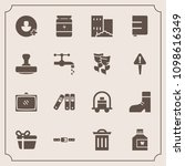 modern  simple vector icon set... | Shutterstock .eps vector #1098616349