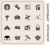 modern  simple vector icon set... | Shutterstock .eps vector #1098616445