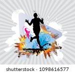 silhouette of marathon runner | Shutterstock .eps vector #1098616577