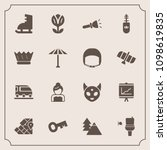 modern  simple vector icon set... | Shutterstock .eps vector #1098619835