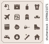 modern  simple vector icon set... | Shutterstock .eps vector #1098621071